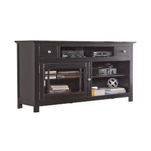 Emerson Hills Black 64-Inch Entertainment Console