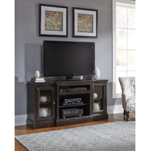 Andover Court Tobacco 64-Inch Entertainment Console