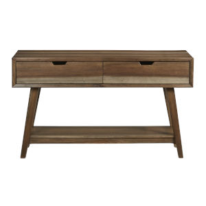 Bungalow Caramel Console Table with Two Drawers