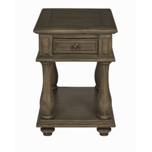 Magnolia Court Cedar Gray Chairside Table