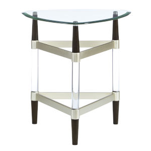 Michigan Ave Brushed Nickel End Table