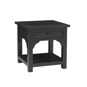 Teresa Vintage Black End Table