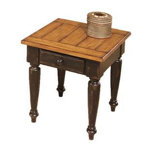 Country Vista Antique Black End Table