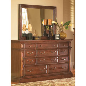 Torreon Drawer Dresser and Mirror