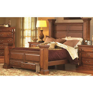 Torreon Antique Pine Queen Complete Bed