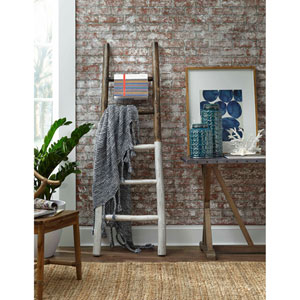 Millie French Roast and Linen White Blanket Ladder