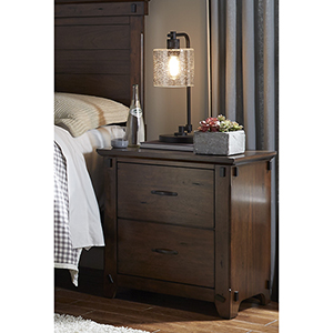 Ridgefield Saddle Finish Nightstand