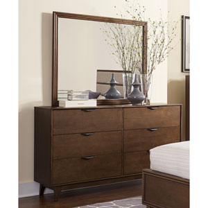 Mid-Mod Drawer Dresser and Mirror
