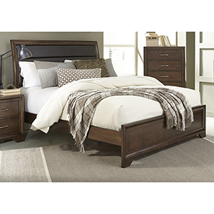 Complete Queen Upholstered Panel Bed
