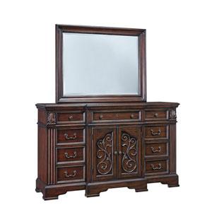 Villa Romana Coffee Door Dresser and Mirror
