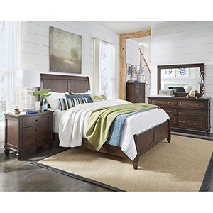 Coronado Sable Complete Queen Panel Bed