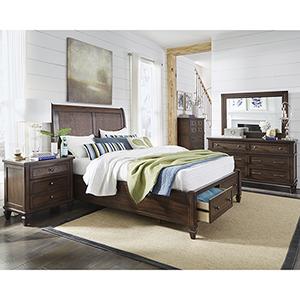 Coronado Sable Complete Queen Storage Bed