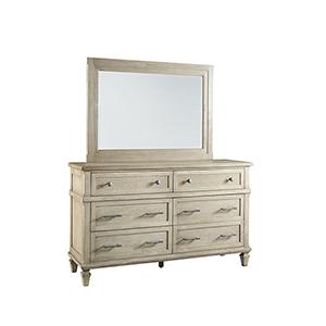 Coronado Flax Drawer Dresser and Mirror
