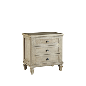Coronado Flax Three Drawer Nightstand