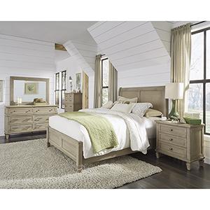 Coronado Flax Complete King Panel Bed