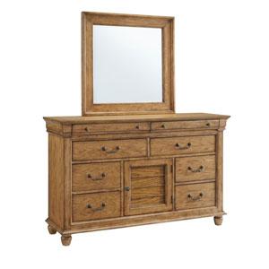 Riverwalk Aged Oak Door Dresser and Mirror