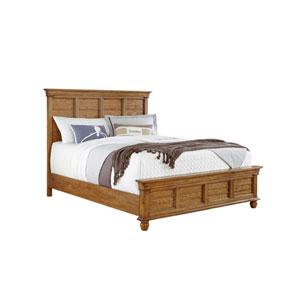 Riverwalk Aged Oak Complete King Mantle Bed