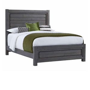 Theory Distressed Dark Gray Complete Queen Panel Bed