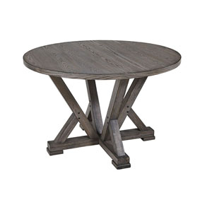 Fiji Harbor Gray Complete Round Dining Table