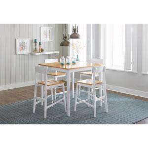 Light Oak/White Counter Table