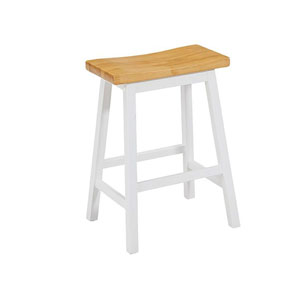 Christy Oak and White Counter Stools