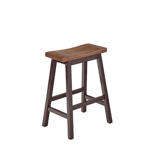 Kenny Walnut and Chocolate Counter Stools