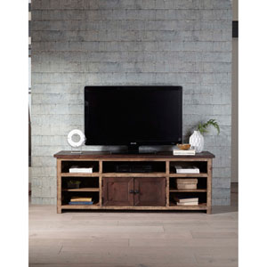 Light and Dark Pine 70 Inch Console