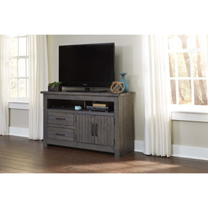 Distressed Dark Gray 54 Inch Console