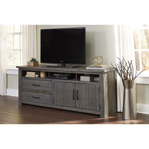Distressed Dark Gray 74 Inch Console