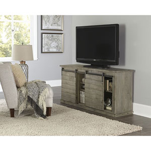 Huntington Distressed Gray 64 Inch Console