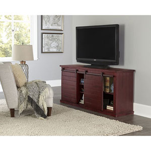 Huntington Distressed Red 64 Inch Console