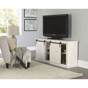 Huntington Distressed White 64 Inch Console