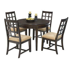 Casual Traditions Walnut Round Dining Table