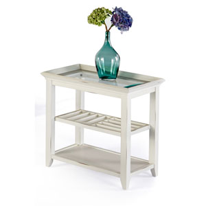 Sandpiper Ii Brushed White Chairside Table