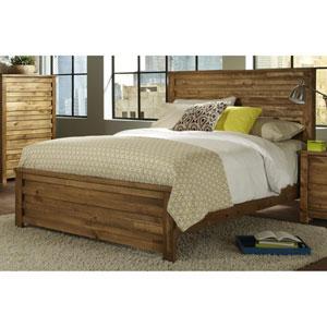 Melrose Mesquite Pine Queen Panel Complete Bed