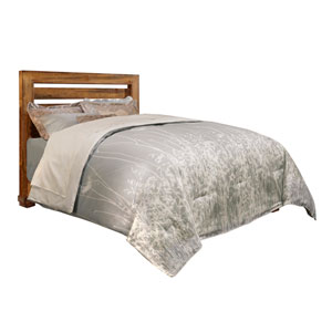 Willow Distressed Pine King Upholstered Complete Bed