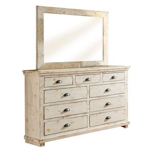 Willow Distressed White Dresser