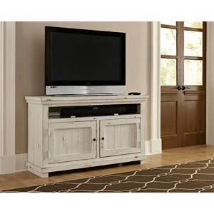 Willow Distressed White 54-Inch Console