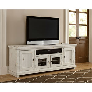 Willow Distressed White 74-Inch Console
