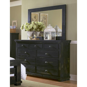 Willow Distressed Black Dresser