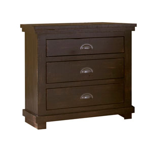 Willow Distressed Black Nightstand