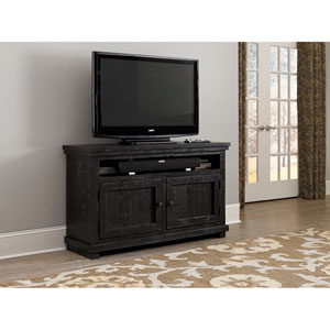 Willow Distressed Black 54-Inch Console