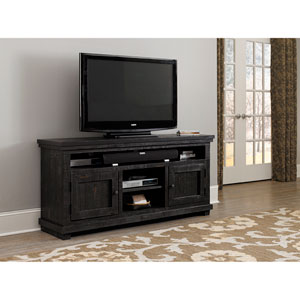 Willow Distressed Black 64-Inch Console