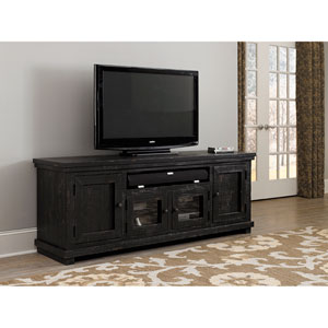 Willow Distressed Black 74-Inch Console