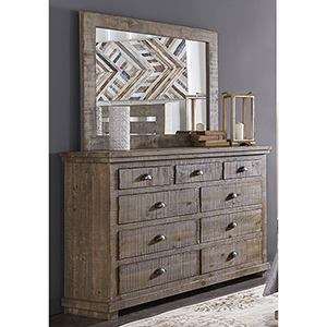 Willow Drawer Dresser and Mirror
