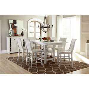 Willow Distressed White Counter Chair, Set of 2