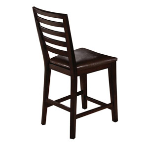 Bobbie Dark Espresso Counter Chair, Set of 2