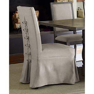 Muses Upholstered Parsons Chair with Cover- Set of 2