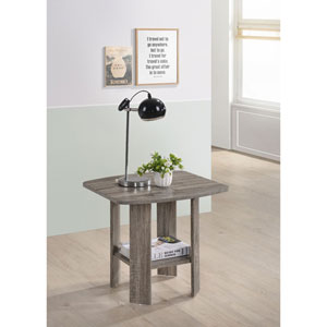 Chip Darker Taupe End Table
