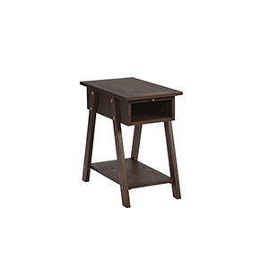 Chairsides II Dark Pine Chairside Table